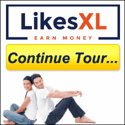 LikesXL Continue Tour Button